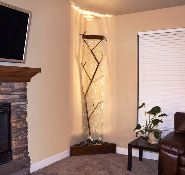 Corner Fountain Contemporary Tree Waterfall - Contemporary - Indoor Fountains - portland - by ...