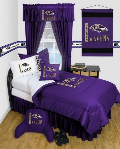Baltimore Ravens NFL Locker Room Complete Bedroom Package