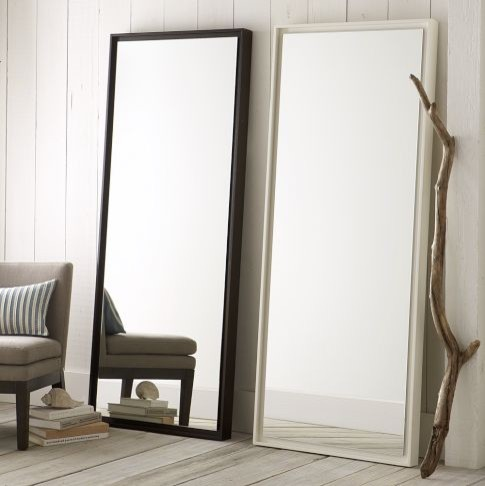 floating wood floor mirror moderne miroir poser au sol par west elm. Black Bedroom Furniture Sets. Home Design Ideas