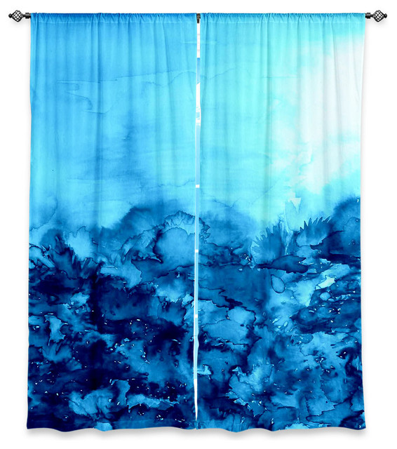 Window Curtains Unlined By Julia Di Sano Into The Eye Pink Turquoise Contemporary Curtains