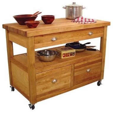 Grand Americana Work Center Kitchen Island Traditional
