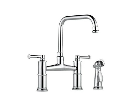 Artesso Kitchen Collection - Two Handle Bridge Kitchen Faucet with Spray