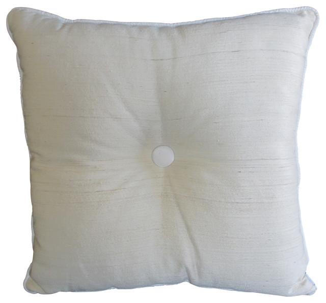 Button Pillow, White traditional-decorative-pillows