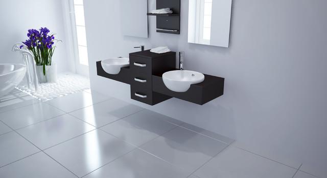 "59"" Modus Double Bathroom Vanity modern"