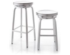 Spin Bar Stools | Crate & Barrel industrial-bar-stools-and-counter-stools