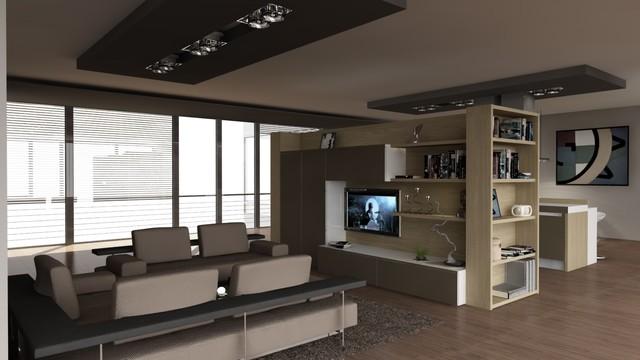 Space design contemporary-rendering