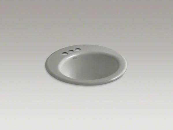 "KOHLER Radiant(R) drop-in bathroom sink with 4"" centerset faucet holes contemporary-bathroom-sinks"
