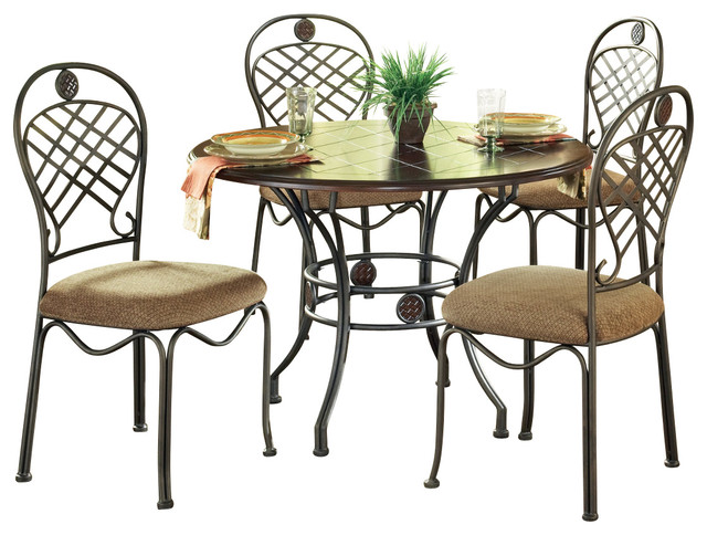 steve silver wimberly 5 piece dining room set with side