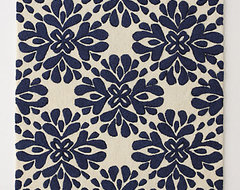Coqo Floral Rug, Navy contemporary rugs