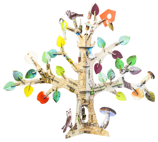 Totem Tree Cardboard Toy contemporary-kids-toys-and-games