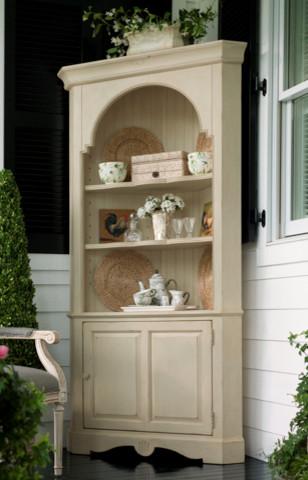 Paula Deen Corner Cupboard in Sea Oat traditional-kitchen-cabinets