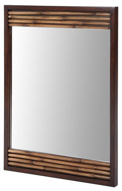 Xylem-M-BAMBU-26DB Bambu 26 Mirror in Dark Bamboo contemporary bathroom mirrors