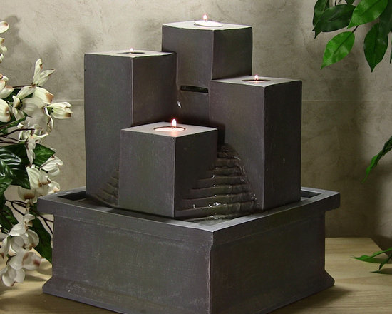 Outdoor Classics - Tealight Pillar Tabletop Fountain - Great little piece to add a nice ambiance to an adult's bedroom.  Nice water sounds with the flickering candles adding a nice touch.  The color is pretty neutral as well so it can fit with any decor.