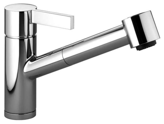Dornbracht 33870760 000010 Single Lever Pullout Kitchen Faucet With Spray In Pol Kitchen