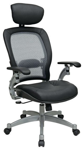 Professional Air Grid Office Chair W Headrest Contemporary Office Chair