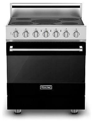 "Viking 3 Series 30"" Electric Self Clean Range, Black   RVER3305BBK gas-ranges-and-electric-ranges"