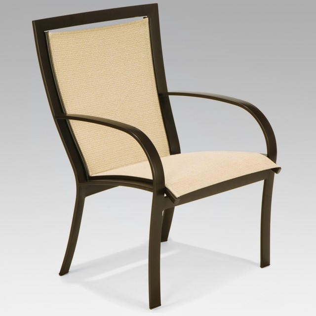 Winston Metropolitan Sling High Back Dining Chair - Set of 2 contemporary dining chairs and benches