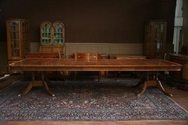 12 foot dining room table | Henredon Aston Court 12 Foot Dining Room Table (Aston CT 3 ...