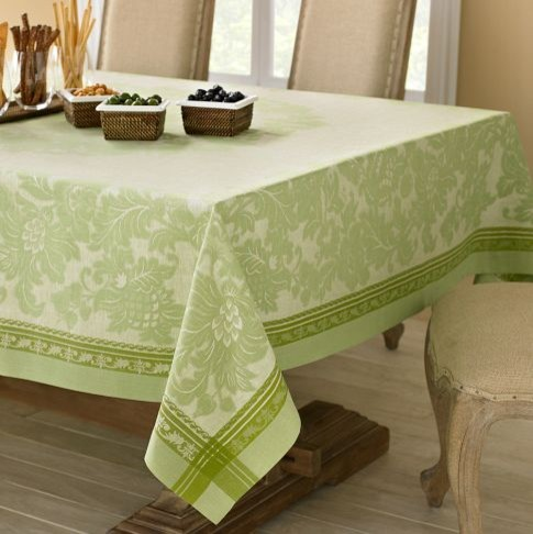 Antique Floral Jacquard Tablecloth - traditional - tablecloths