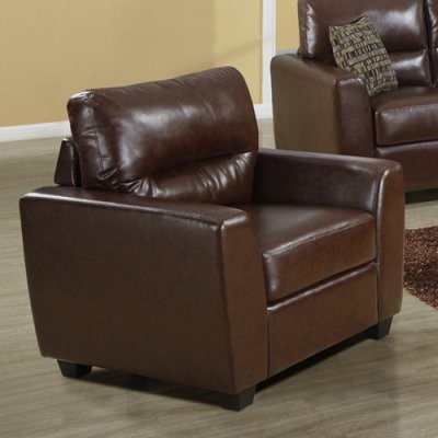 Lewis Leather Chair - Brown modern-living-room-chairs