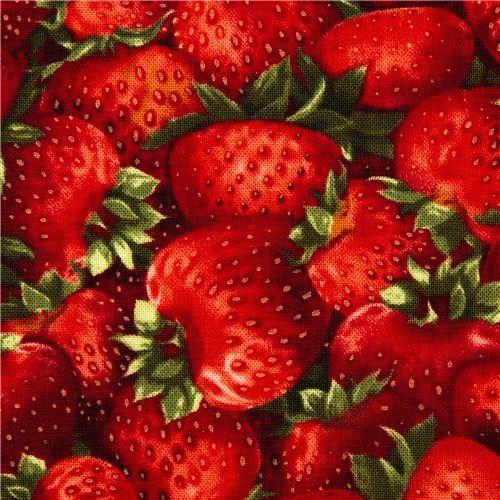Robert Kaufman fabric with red strawberries fabric