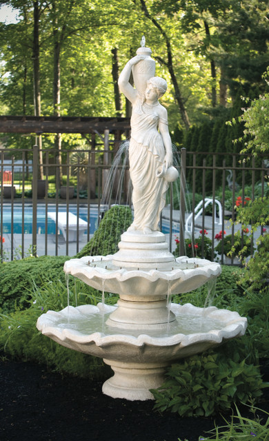 Massarelli Two Tier Grecian Lady Fountain With Spray Ring