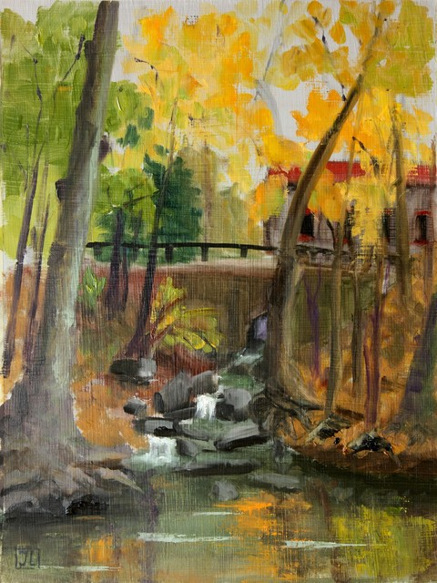 """Sunny October Day in Gladwyne"" Artwork contemporary-originals-and-limited-editions"