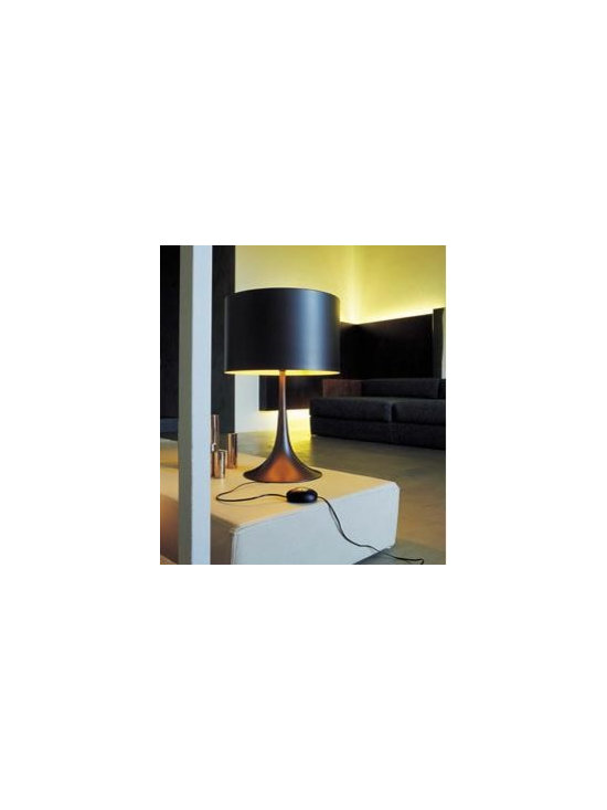 Spun Light T Table Lamp By Flos Lighting - The Spun light T by Flos is all about simplicity.