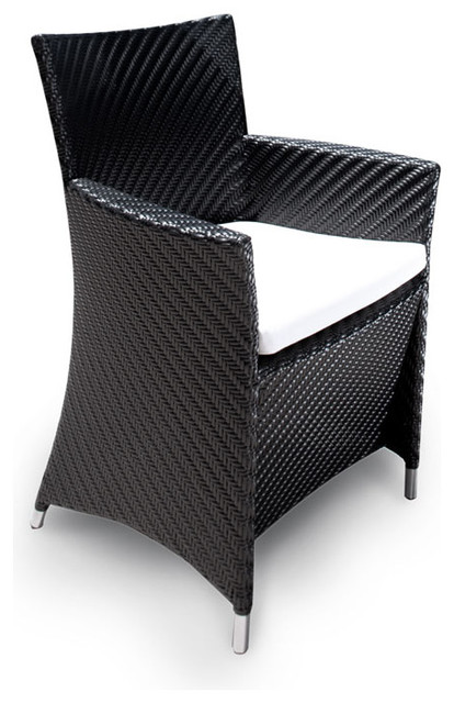 Valencia All Weather Wicker Dining Armchair contemporary-outdoor-chairs