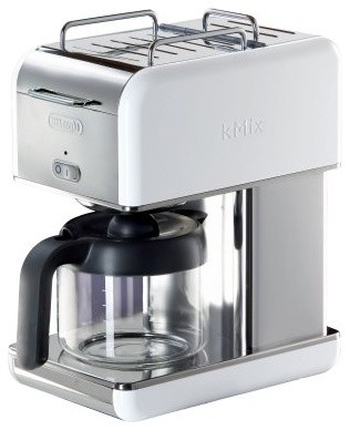Delonghi DCM04WH Kmix 10-Cup Coffeemaker - White modern-coffee-and-tea-makers