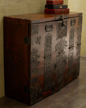 Vintage Manchurian Cabinet traditional-bathroom-vanities-and-sink-consoles