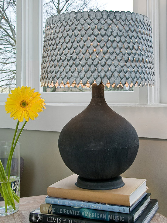 Zinc Urn Lamp - This is a Sample Sale Item. Gently used but still in good condition!