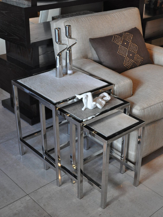 Showroom Pieces - Grey Hide Nesting Tables