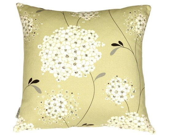 Pillow Decor - Pillow Decor - Vintage Bloom Green 22 x 22 Throw Pillow - The Vintage Bloom 22 x 22 Throw Pillow has a gorgeous floral design. Bring summer alive in your home with this beautiful vintage inspired throw pillow. The floral print is in tones of creams and silver grays set against a pistachio Green background that gives it that vintage color charm. The fabric is a beautiful broad weave cotton and is both soft and durable. This throw pillow is a fresh summer favorite and looks fantastic on sofas, stand alone chairs, sectionals and beds. The pillow coordinates nicely with soft creams and whites but also works well with bold solid colors like purple, rich pink and charcoal grays.