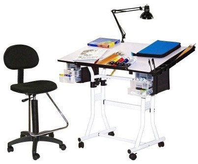 Martin Universal 4-Piece Creation Drafting Table modern-desks-and-hutches
