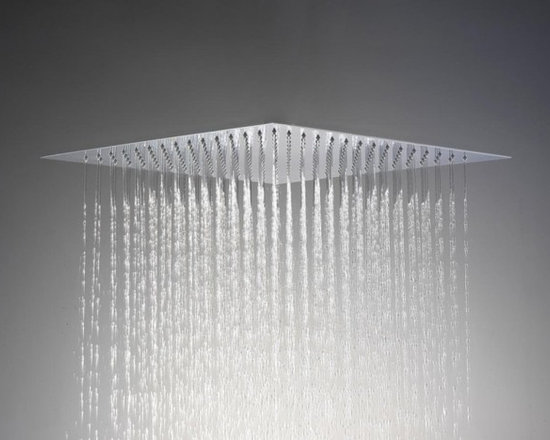 Saneux SLIM Shower Head Flush to Ceiling - The Saneux Slim Shower Head Flush to Ceiling 430 x 430 mm