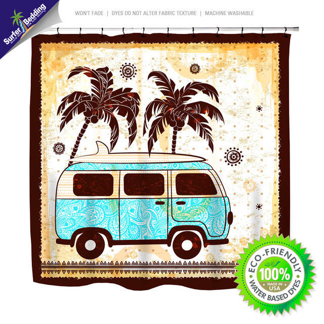 2014 Surfer and Beach Bathroom Designs beach-style-shower-curtains