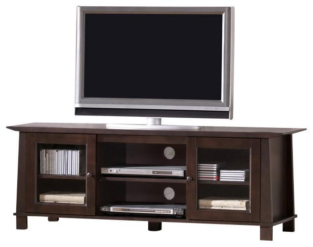 Baxton Studio Havana Brown Wood Modern TV Stand (Plasma) - Transitional - Entertainment Centers ...