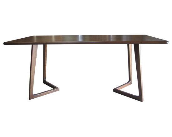 Perry Dining Table by Nuans Design - Entire table is solid hardwood sanded to perfection. Natural beech wood finish.