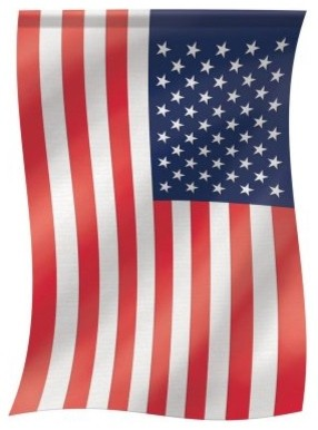 Carson 13 x 18 American Flag Garden Flag modern patio furniture and outdoor furniture