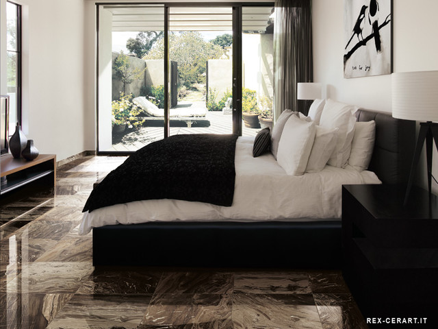 Rex IMarmi Marble Brown Porclelain Tile traditional-wall-and-floor-tile