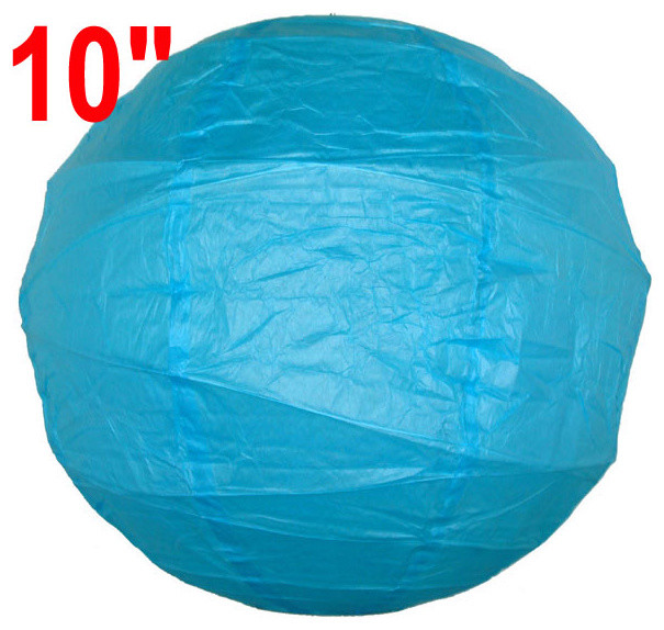"""10"""" Criss Cross Turquoise Blue Chinese Japanese Paper Lantern home-decor"""