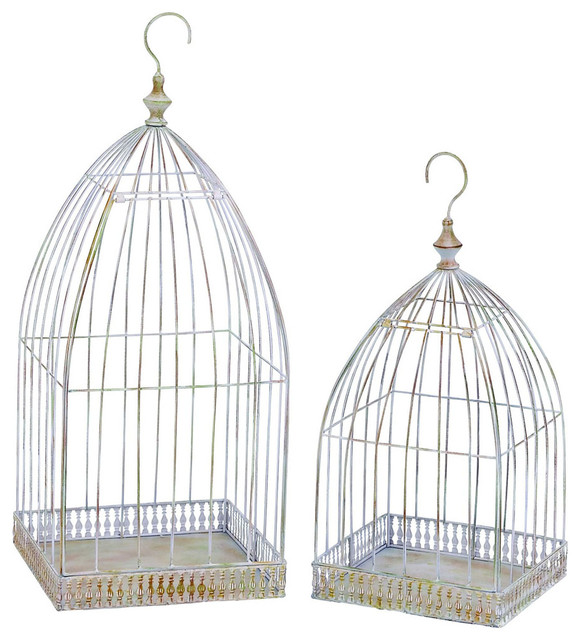 Bird Cage Planter: Old Look Victorian Bird Cage Style Hanging Planter Set