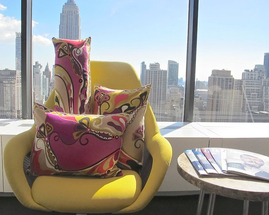 Perky Pillow  from Emilio Pucci Scarf - 16x20-Pucci Silk Twill