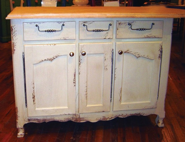 4 Ft Wide French Kitchen Island W 3 Drawers 3 Cabinets
