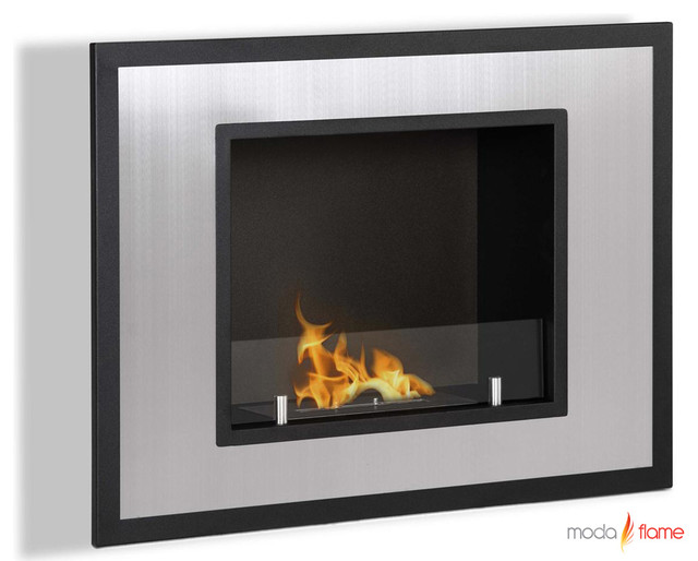 Moda Flame Rio Wall Mounted Ethanol Fireplace modern-indoor-fireplaces