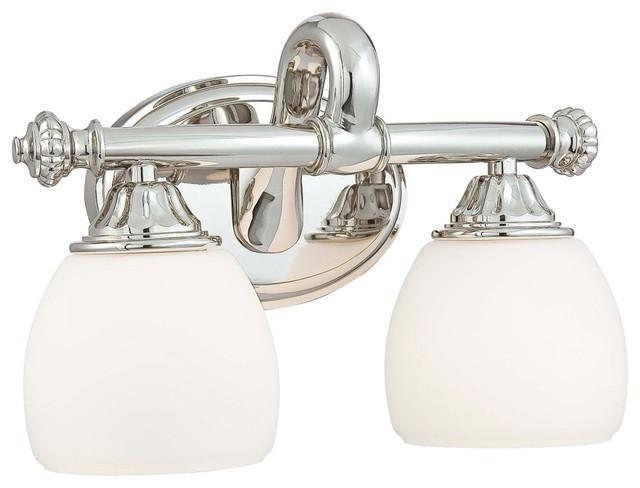 "Metropolitan Bath Collection Nickel 13 3/4"" Wide Bath Light traditional-bathroom-vanity-lighting"