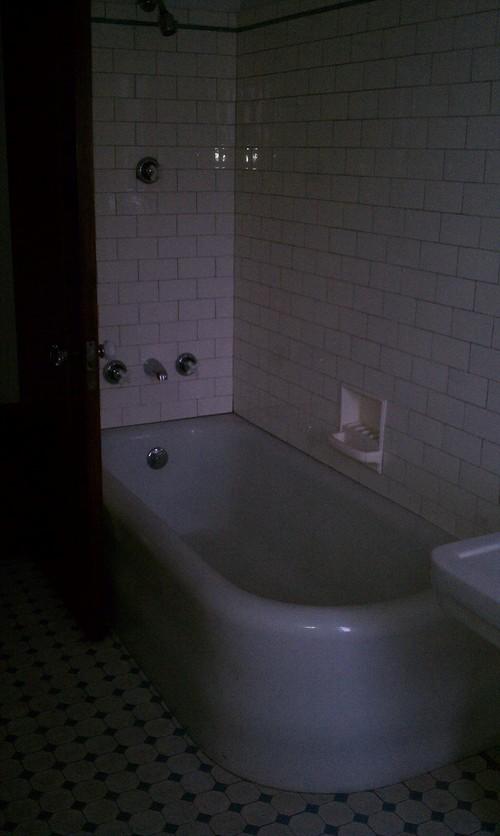 Shower Curtain For 1920s Corner Tub