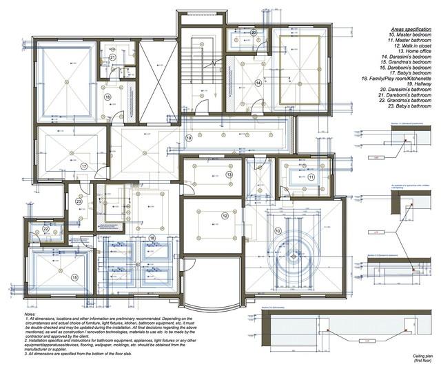 Blueprints development contemporary-interior-elevation