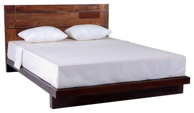 Modern Reclaimed Wood Platform Bed - modern - beds - grand rapids